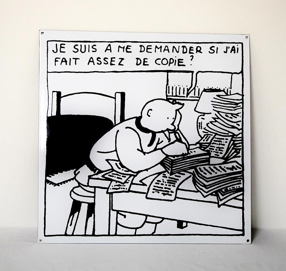Hergé plaquette